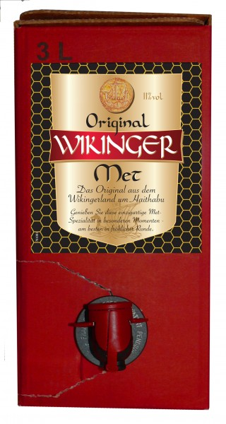 Original Wikinger-Met BiB - 3Liter Bag in Box - alc.11%Vol.