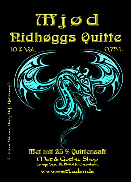 Nidhøggs Quitte in 0,75 Liter Flasche - 10 %
