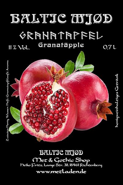 Met mit Granatapfel - Baltic Mjød-0,7 l -10 %
