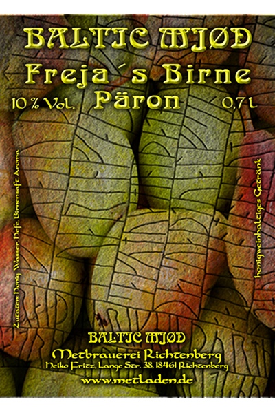 Frejas Birne, Met mit Birnen Geschmack - Baltic Mjød-0,7 l-10 %