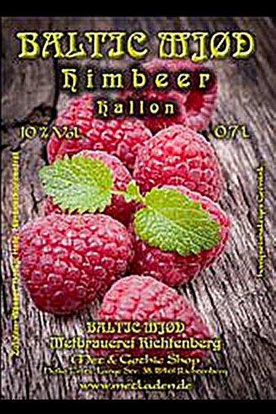 Met Himbeere - Baltic Mjød -10 % - 0,7 Liter