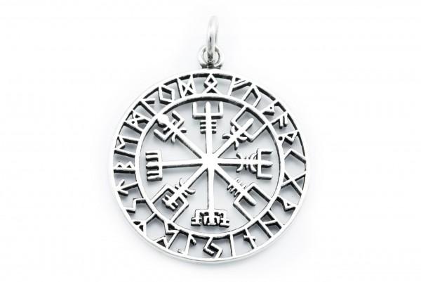 Amulett Ø 3.6 cm Vägvisir Silber - av66