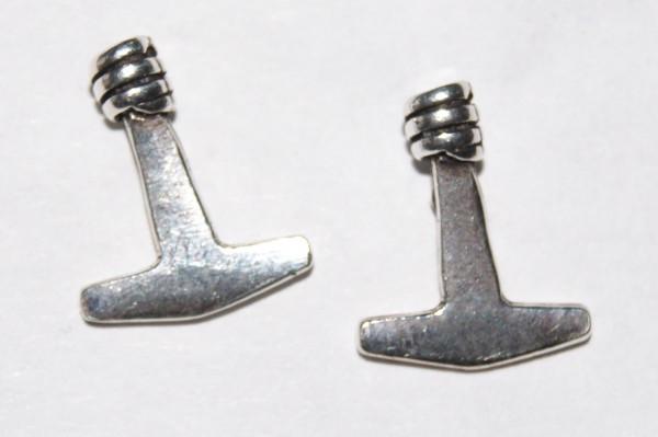 Ohrstecker Thorshammer 12 mm Silber - ML-ost1