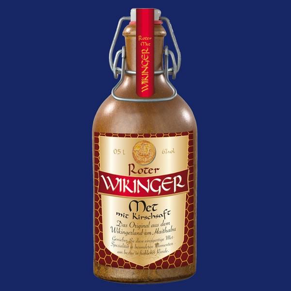Roter Wikinger-Met in dekorativer Tonflasche - 0,5Liter - alc.6%Vol.