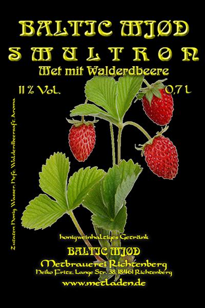 Smultron-Walderdbeere - Baltic Mjød - 0,7 Liter, 11 %