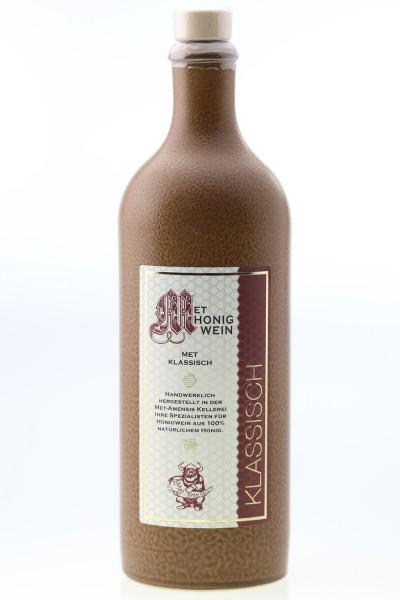 Met klassischer Honigwein - 0,75l Fl. - 11% in Tonflasche