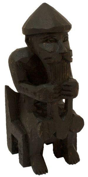 Wikinger Figur THOR 15 cm schwarz - hk65