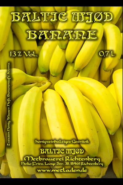 Bananen Met - Met küsst Banane - Baltic Mjød - 0,7 l