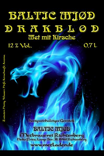 DRAKBLOD - Met mit Kirsche - Baltic Mjød -0,7 l