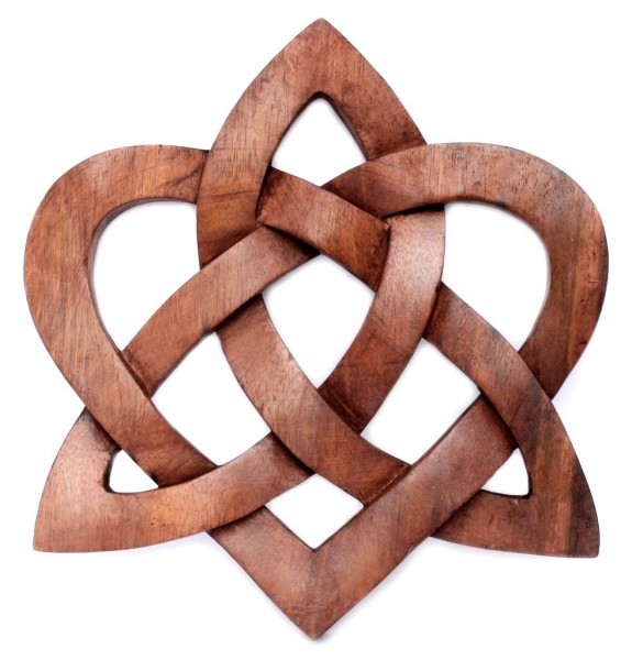 Wandbild - Keltischer Knoten - Herz - ws255