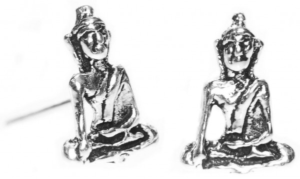 Ohrstecker SIDDHARTA 8 mm Kleiner Buddha Silber - ost26