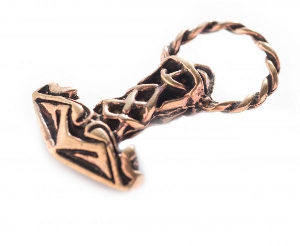 Thorshammer mit Ring Bronze 3.3 cm - atb19