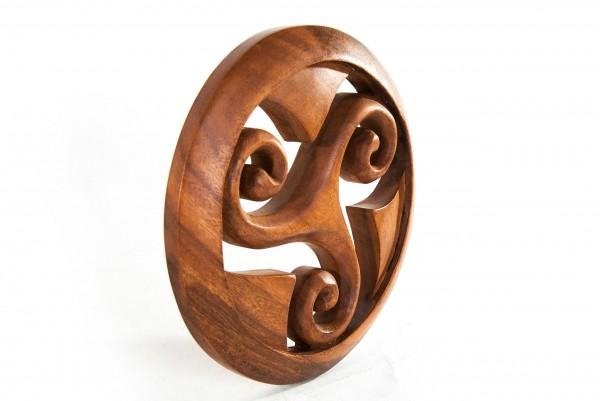 Wandbild - Keltische Triskele im Kreis - Ø 22 cm - ws114