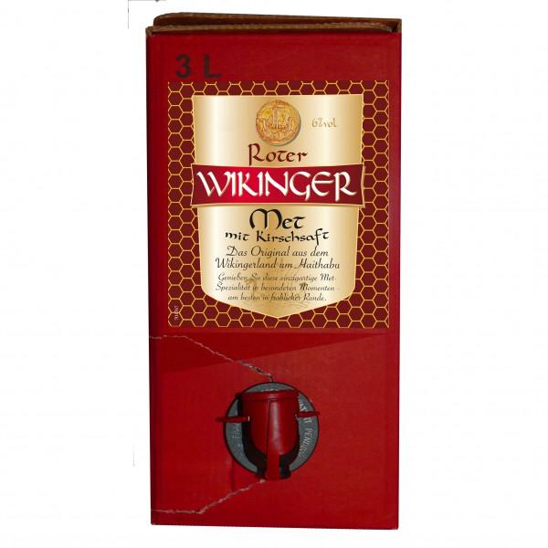 Roter Wikinger-Met im Kanister - 3 Liter BiB - alc. 6 % Vol.