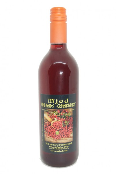 Vinlands Cranberry - Met mit Cranberry - 10 % - 0,75 l