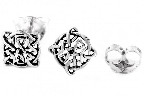 Ohrstecker 7 mm Keltischer Knoten Silber - ost12