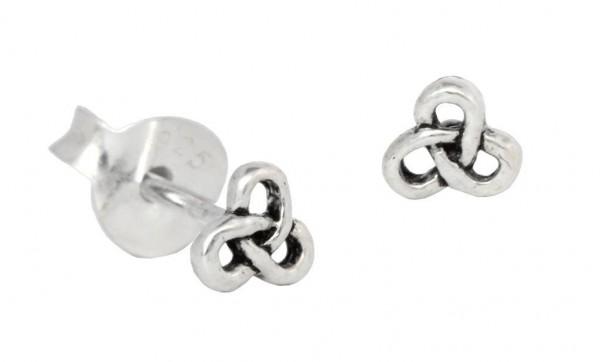 Ohrstecker Keltischer Knoten 3 mm Silber - ost6