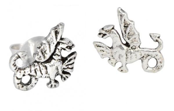 Ohrstecker Kleine Drachen 8 mm Silber - ost24