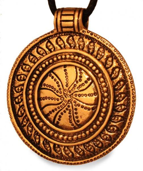 Anhänger Sonnenrad Bronze - avb538