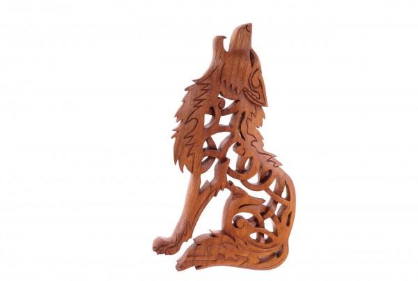 Wandrelief - FENRIS Wolf - Links schauend - ws300