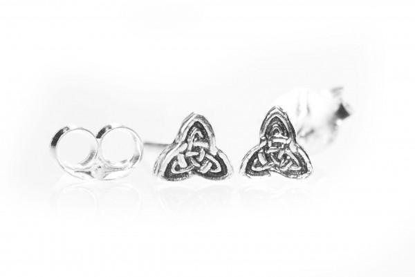 Ohrstecker Keltischer Knoten 4 mm Silber - ost16