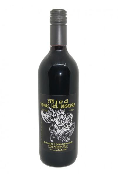 Vidars Hollerbeere - Met mit Holunderbeere in 0,75 Liter Flasche - 10 %