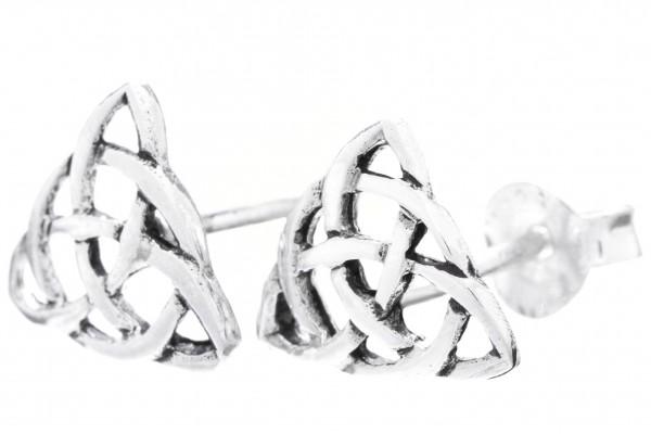 Ohrstecker Keltische Knoten 9 mm Silber - ost103