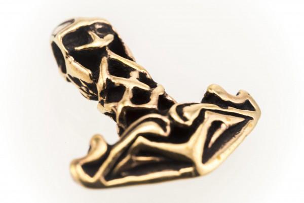 Kleiner Thorshammer Bronze 2.3 cm - atb19-2