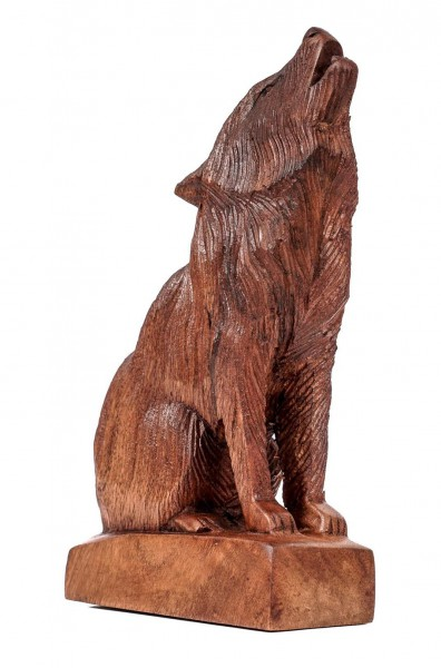 Kleine Wolfs Figur - Geri/Freki - 17 cm - hk4