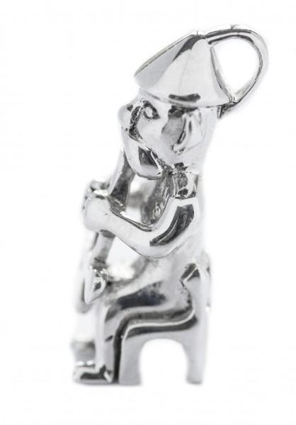 Anhänger THOR auf seinem Thron 2.9 cm Silber - av53