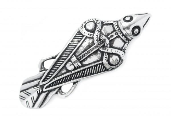 Anhänger Rabe 5 cm Silber - av47