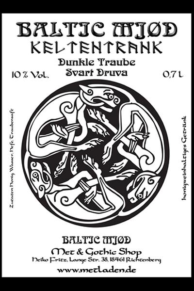 Keltentrank, Met mit Dunkler Traube - Baltic Mjød-0,7 l -10 %