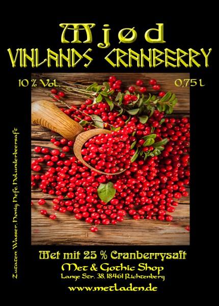 Vinlands Cranberry - Met mit Cranberry - 10 % - 0,75 l