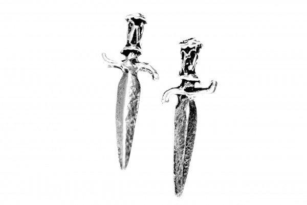 Ohrstecker  Kleine Dolche Mittelalter Schmuck 13 mm Silber - ost55
