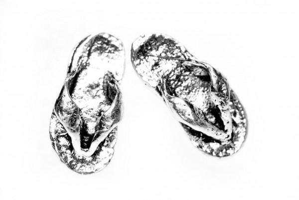 Ohrstecker Funny Flip Flops 8 mm Silber - ost133