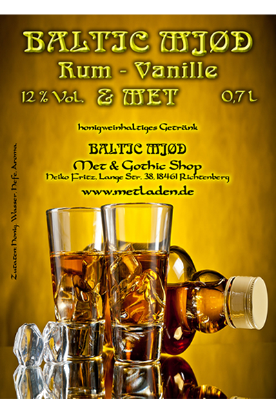 Met Rum - Vanille - Baltic Mjød - 0,7 Liter, 12 %