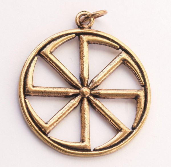 Anhänger Slawisches Sonnenrad Bronze - avb65