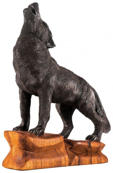 Großer schwarzer Wolf - Fenris-Wolf - hk2-2