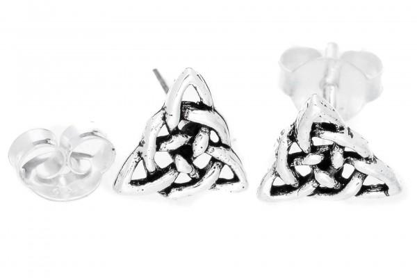 Ohrstecker Keltische Knoten Ohrringe 7 mm Silber - ost49