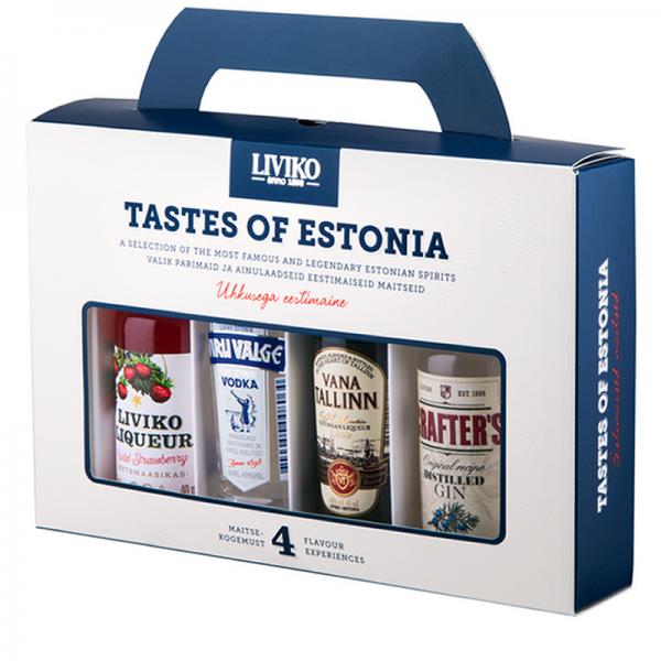 Estlands Feinste - Geschenkset mit 4 estonischen Spezilitäten a 50 ml